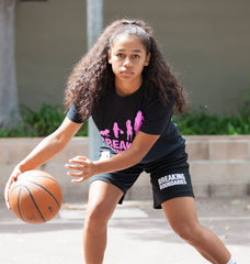 Evolution Tee - Women's Basketball (Black/Pink) - Breaking Boundaries Apparel  - 3
