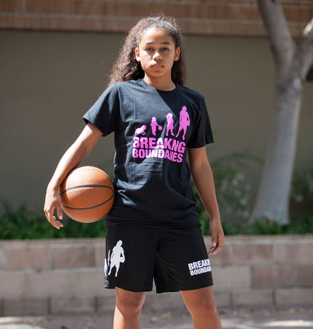 Evolution Tee - Women's Basketball (Black/Pink) - Breaking Boundaries Apparel  - 2