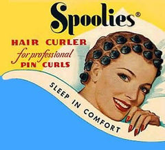 Spoolies Hair Curlers old 50s Ad spoolies.com