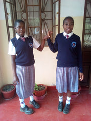 Spoolies girls' high school, Naomy and Valentine, Kitale Kenya
