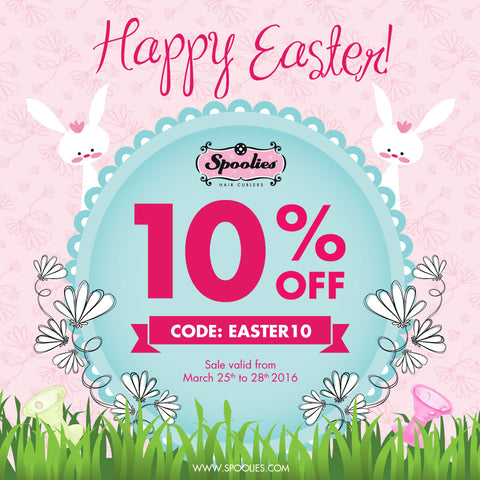 Spoolies Hair Curlers Easter Sale