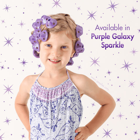 Spoolies Purple Sparkle Galaxy Hair Curler