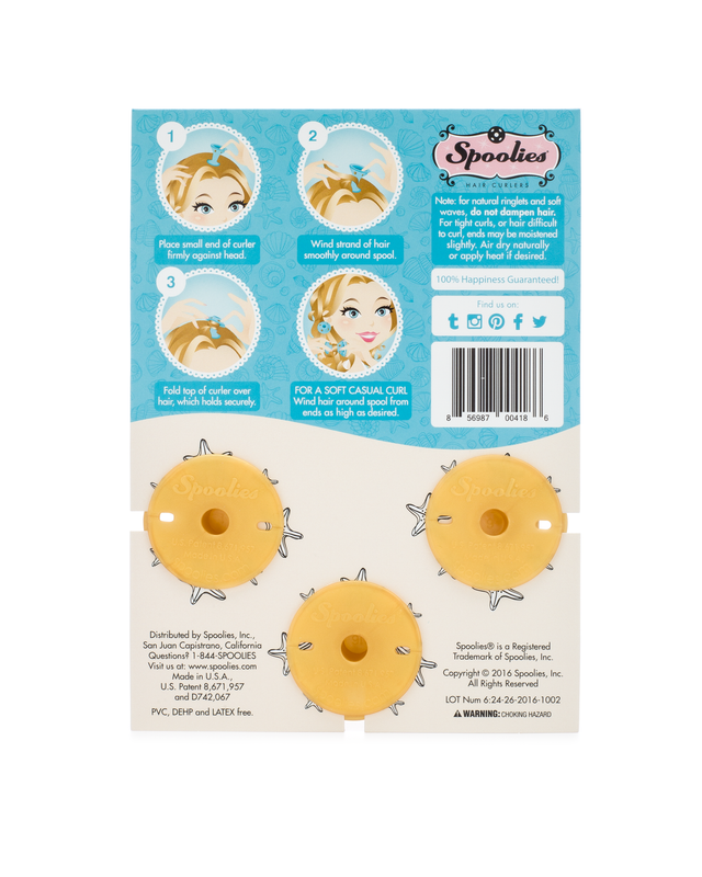 3pc Pack - Jumbo Size Gold Edition Spoolies® Hair Curlers