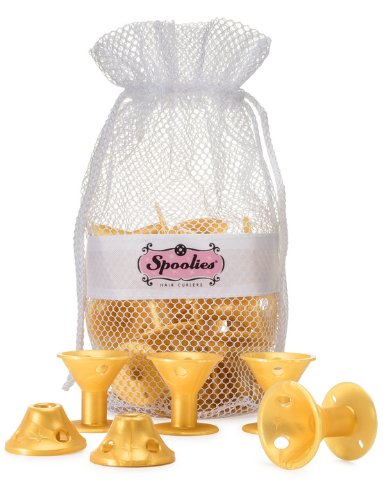 15pc - Jumbo Spoolies® in Mesh Bag, Gold Edition