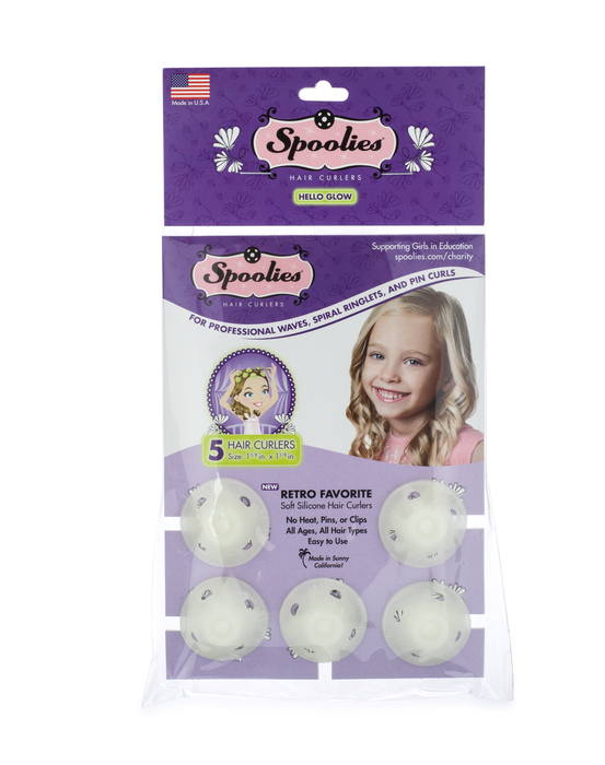 5pc Pack - Hello Glow Spoolies® Hair Curlers