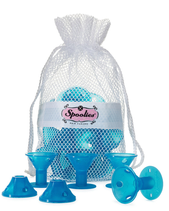 15 pc - Jumbo Spoolies® in Mesh Bag, Beachy Blue