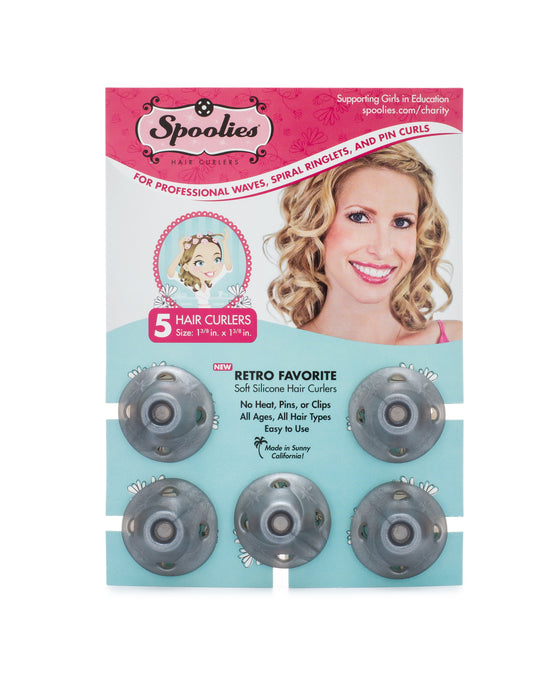 Spoolies Silver Edition Curlers 5-Pack_Front