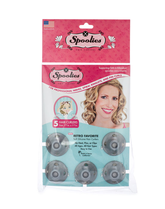 Spoolies Silver Edition Curlers 5-Pack_package
