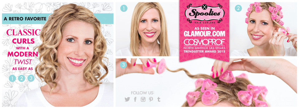 Spoolies Hair Curlers step by step