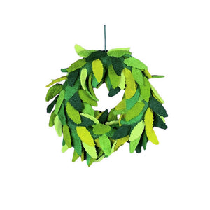 .Green Felt Wreath