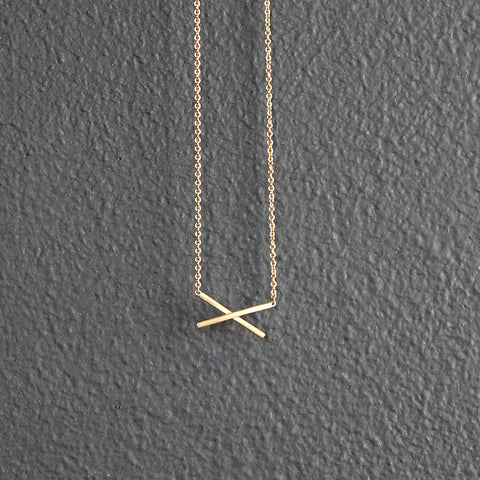 Gold 14K X Necklace