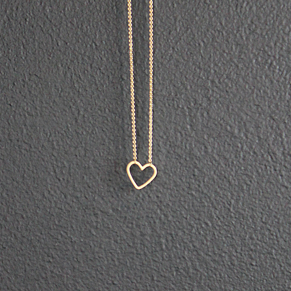 14K Gold Mini Heart Necklace
