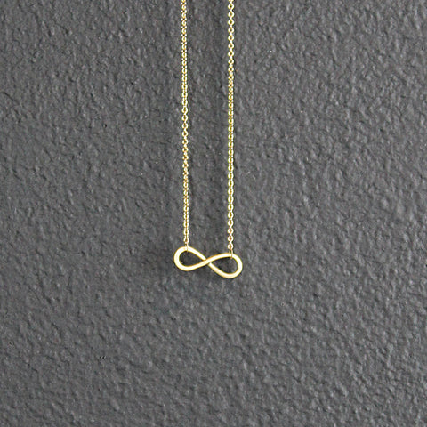 .14K Gold Infinity Necklace
