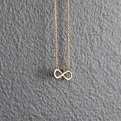 Gold 14K Infinity Necklace