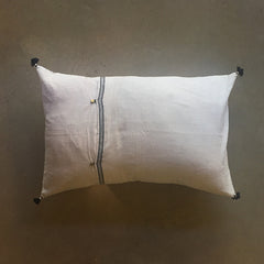 "White Handmade Pillow - 24"" x 16"""