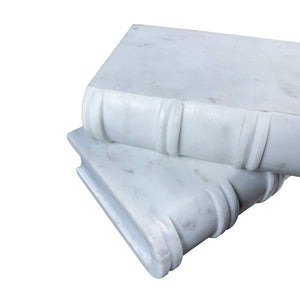 .White Marble Stone Bookends
