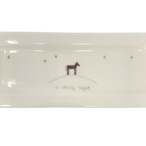 .Cream Handmade Christmas Tray - Starry Night