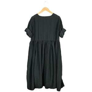 .Black Silk Blend Dress