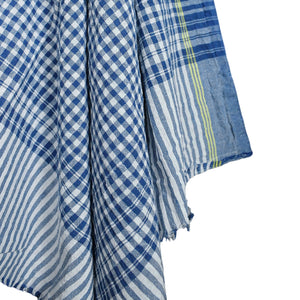 Blue Checkered Cotton Towel - Small *more colors available*