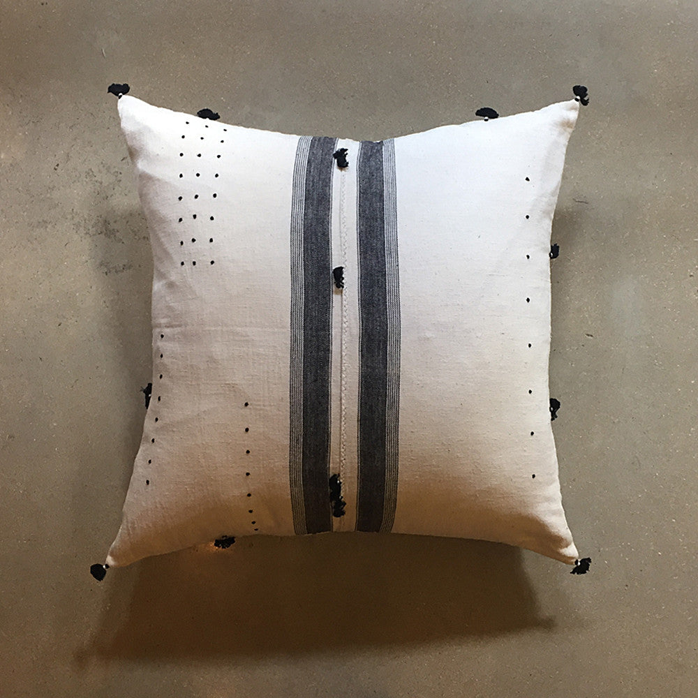 "White Handmade Pillow - 24"" x 24"""