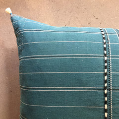 "Teal Handmade Pillow - 24"" x 24"""