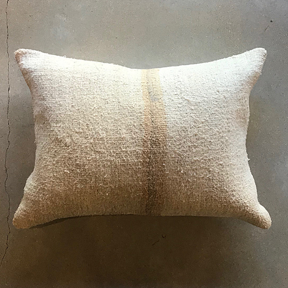 "Cream Vintage Pillow - 24"" x 18"""