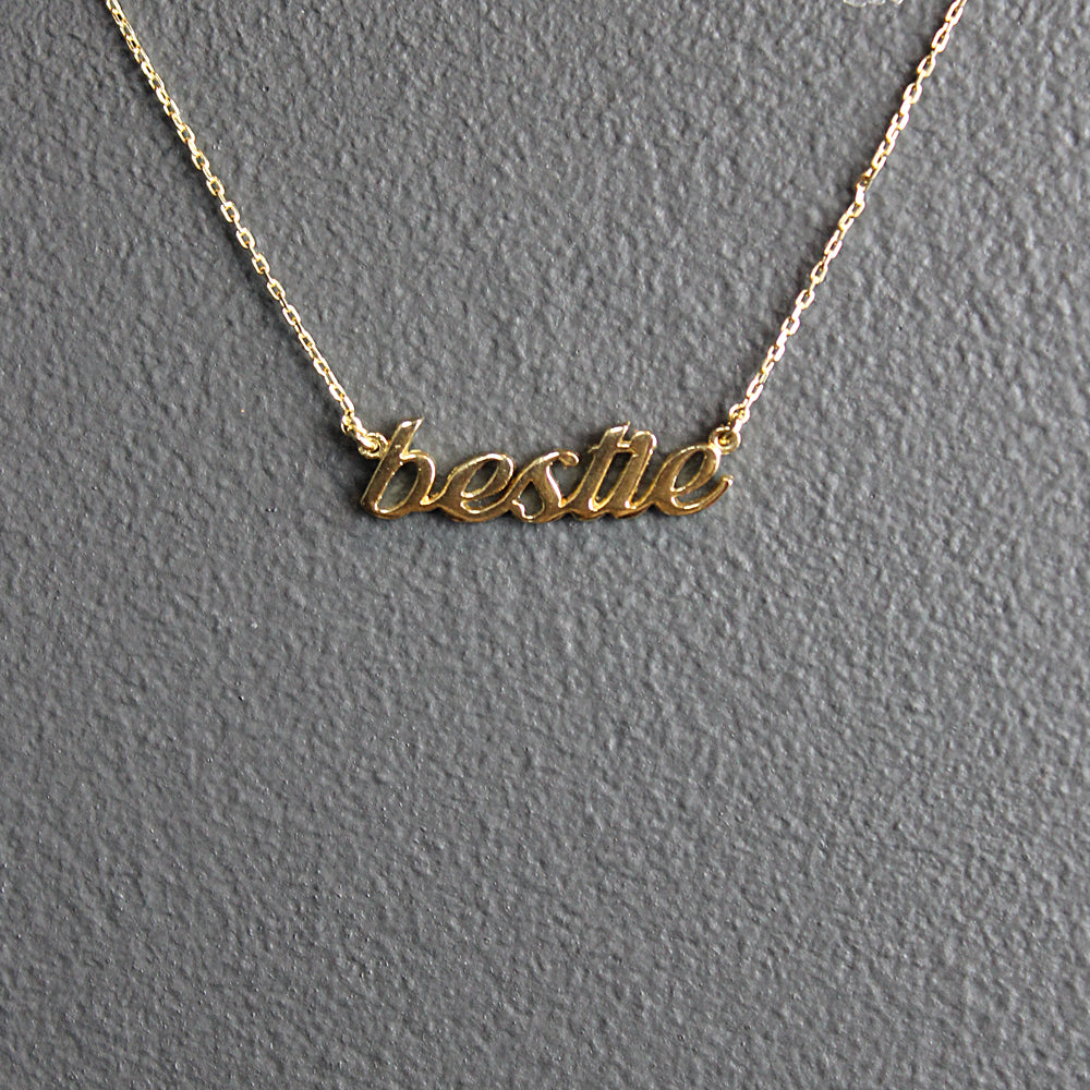 Gold Bestie Necklace