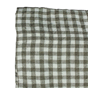 Brown Gingham Tablecloth - Rectangle