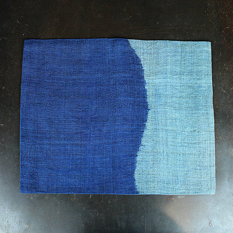 .Blue Hand Dip-Dyed Placemat