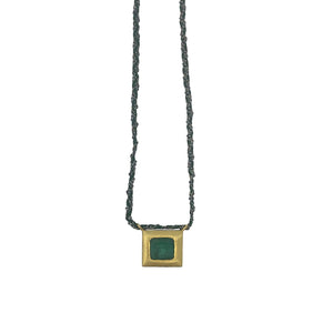 .Gold + Emerald Necklace