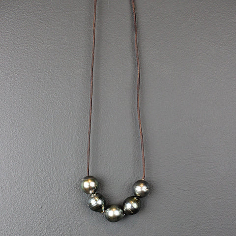 Five Strand Tahitian Pearl Necklace