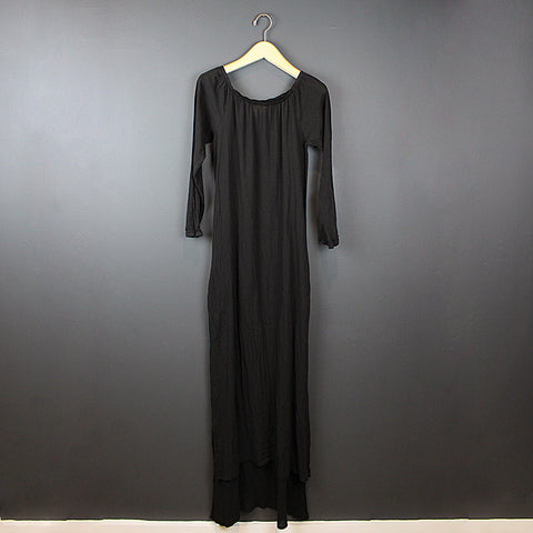 .Black Shoulder Dress