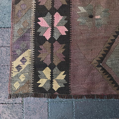 "Handwoven Turkish Rug - 4' 4"" x 4' 9"""