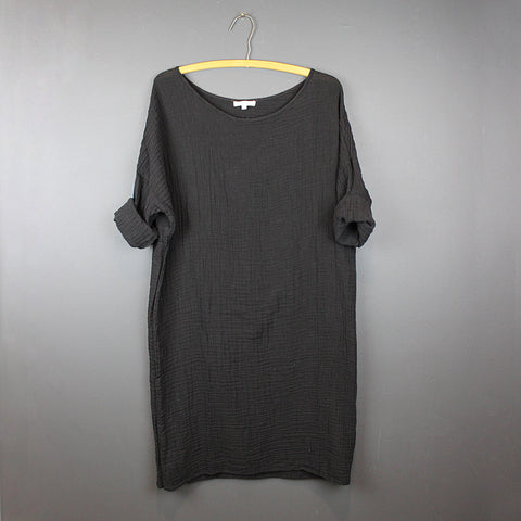 .Black Cotton Dress