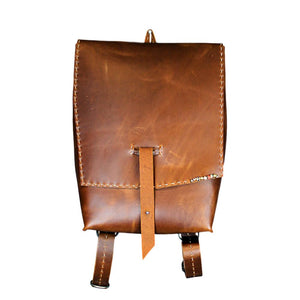 Brown Handmade Leather Backpack