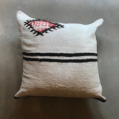 ".Cream Vintage Pillow - 24"" x 24"""