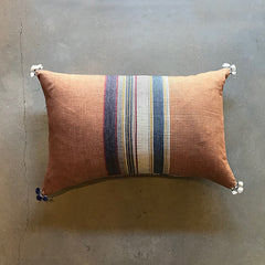 "Orange Handmade Pillow - 24"" x 16"""