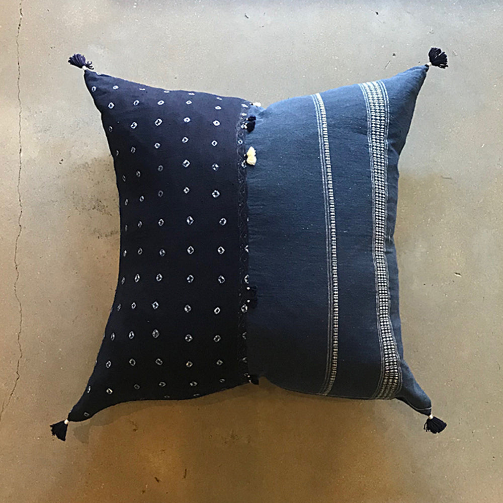 "Blue Handmade Pillow - 24"" x 24"""