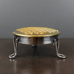 Brass + Steel Footed Cheese Grater