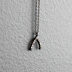 Silver Wishbone Diamond Necklace