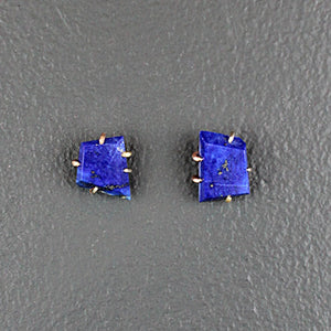 Blue Lapis Earrings - Large