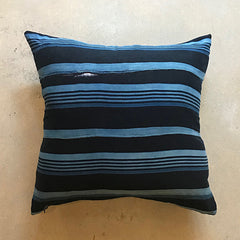 "Blue African Mud Cloth Pillow - 20"" x 20"""