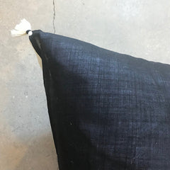 "Black Handmade Floor Pillow - 32"" x 32"""