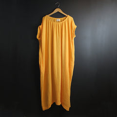 Yellow Off Shoulder Caftan