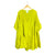 Chartreuse Silk Mini Dress