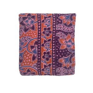 Purple + Orange Handwoven Cotton Textile