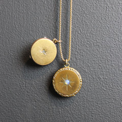 Gold Vintage Double Locket Necklace