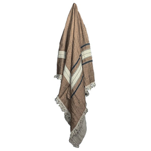 Brown + Tan Belgian Towel