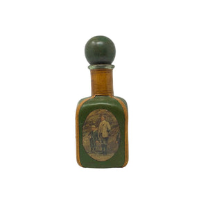 .Green Vintage Leather Decanter