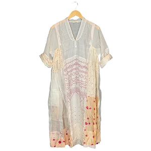 Cream Handwoven Dress